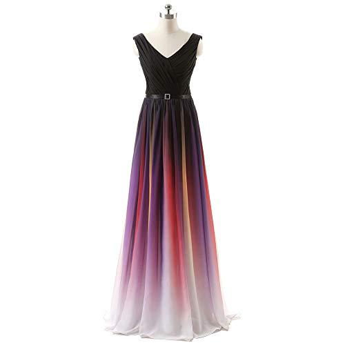 Para Fiesta Vendaje Formal Maxi De Niais Mujer Honor Dama Purple Gasa Vestido UCawS
