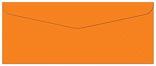 100 Tangerine Zest Orange #10 Envelopes - 9.5