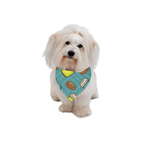 XINGCHENSS Pet Dog Cat Bandana Chocolate Mousse Dessert Color Fashion Printing Bibs Triangle Head Scarfs Kerchief Accessories for Large Dog Pet Birthday Party Easter Gifts