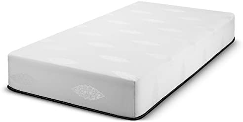 Fortnight Bedding 10 inch Full Size Gel-Infused Memory Foam Mattress with White Stretch Knit Fabric – CertiPUR-US Certified 10 Year Warranty – Made in USA
