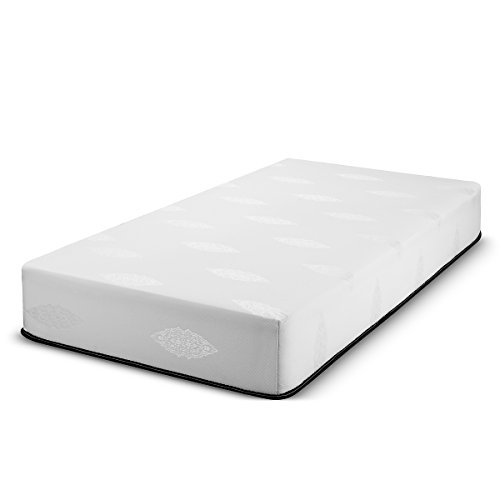 Fortnight Bedding 10 inch Queen Size Memory Gel Infused Foam Mattress with White Stretch Knit Fabric – CertiPUR-US Certified 10 Year Warranty – Made in USA