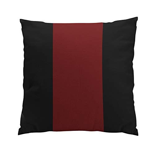 Garnet Throw Pillow - Suike Black and Garnet Romantic Hidden Zipper Home Sofa Decorative Throw Pillow Cover Cushion Case Square 18x18 Inch Two Sides Design Printed Pillowcase