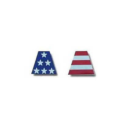 LTOD 6 Part Reflective Tetrahedrons, USA Flag Decals - n/a