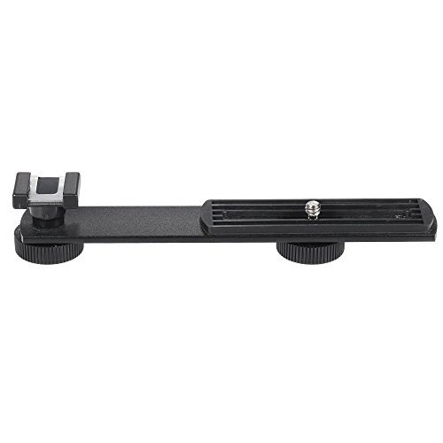 Boya BY-C01 Aluminium Alloy Universal Bracket Additional Cold-Shoe and 1/4in-20 Screw Mount for Microphone DV Camcorder Flash LED Light Microphone