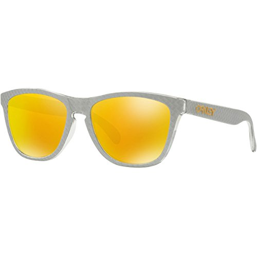 Oakley Men's Frogskins (a) Non-Polarized Iridium Rectangular Sunglasses, CHECKBOX SILVER, 54.5 ()