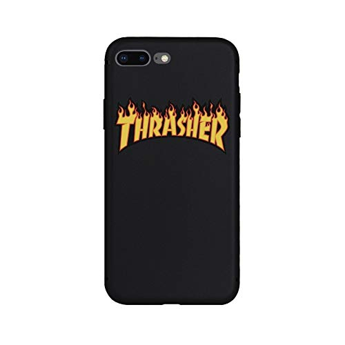 1 piece Brand NEW Logo Jordan AIR Fire Soft Case for iPhone 8Plus 7Plus 8 7 6sPlus 6s 6Plus 6 X Xs XR Xs Max 5 5s SE Phone Cases Cover]()