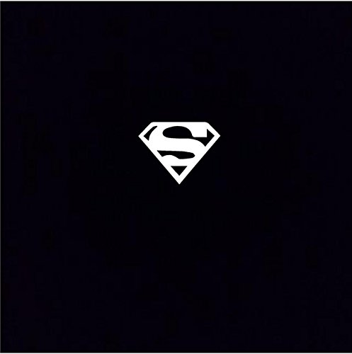 """Superman - Small wall or auto decal sticker home décor 4"""" x 3"""""""