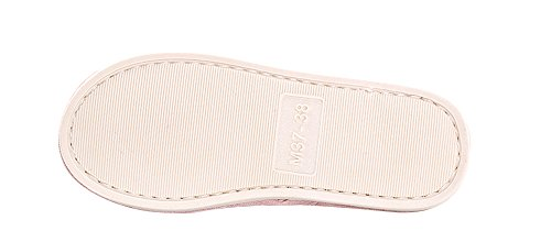 Kenabes Womens Soft Contton Indoor Casual Huis Pantoffels Roze