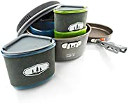 GSI Outdoors - Pinnacle Backpacker, Nesting Cook Set, Superior Backcountry Cookware Since 1985
