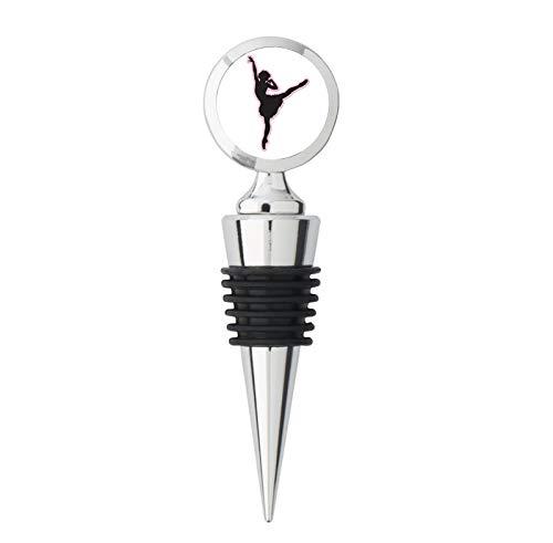- Ballerina Dancer Beautiful Metal Steel Bottle Stopper Winestopper