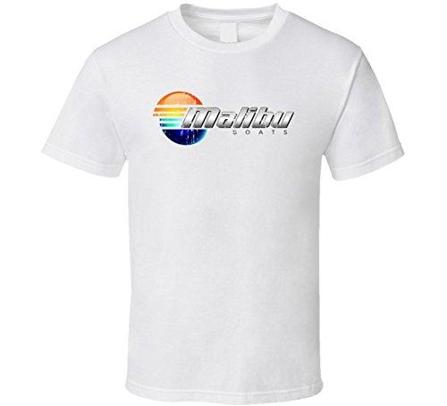 Malibu Boats Boat Brand Marine Fathers Day Worn Look T Shirt Xl White