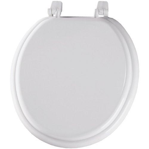 best Bemis 400TTA000 Economy Molded Wood Round Toilet Seat, White by Bemis