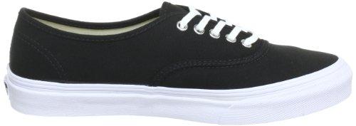 Vans U AUTHENTIC SLIM BLACK/TRUE WHIT - Zapatillas de lona unisex Schwarz (Black/True Whit)