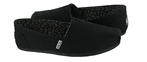 BOBS from Skechers Women's Plush Peace and Love Flat,Black,8.5 M US by Skechers (Image #1)