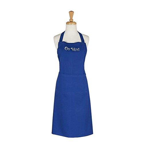 DII Design Imports Blue Hanukkah Oy Vey Embroidered Chefs Apron One Size (Embroidered Chefs Apron)