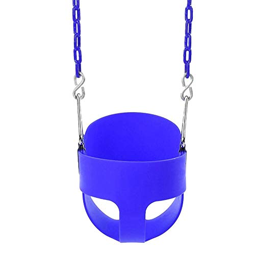 - Lamptti High Back Full Bucket Toddler & Baby Swing Set with 66 inch Iron Swing Chains & 2 Snap Hooks Fully Assembled