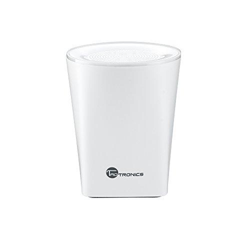 TaoTronics Tragbarer Bluetooth Lautsprecher Wireless Mini Portable Speaker mit Mikrofon Stereo (Bluetooth 4.0, 6 Stunden Akkulaufzeit, Freisprecheinrichtung), weiß