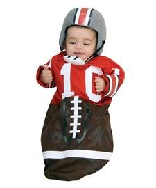 Baby Boy Football Costume (Newborn Football Bunting, Newborn Ages 0-9 months))