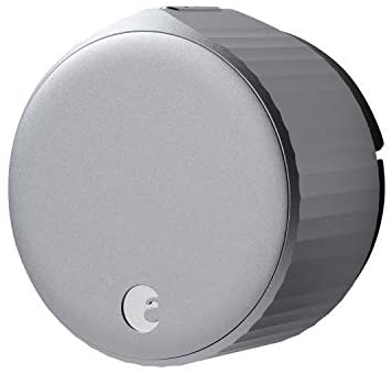 August Wi-Fi, (4th Generation) Smart Lock – Fits your present deadbolt in mins, Silver