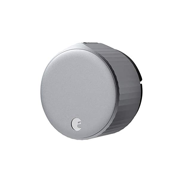 August Wi-Fi, (4th Generation) Smart Lock – Fits Your Existing Deadbolt in Minutes, Silver 1