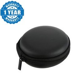 Captcha Earphone pouch - Multi Purpose Pocket Storage Case for Headphone, Pen Drives, Memory Card, Earphones (Black).