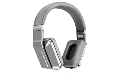 Monster Inspiration Active Noise Canceling Over-Ear Headphones (Silver) Bundle with Custom Design Zorro Sounds Cleaning Cloth