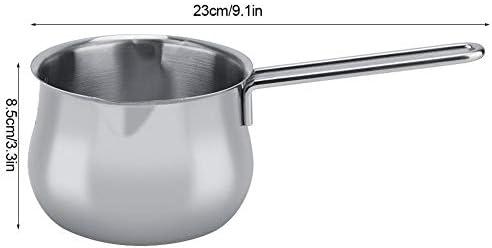 Casserole à Lait Lait Chauffage Pot marmite à soupe de beurre d'oeuf portable à fond plat Casserole de cuisine Outils de cuisine Pot de soupe
