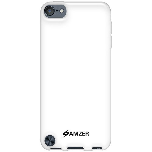Amzer Soft Gel TPU Gloss Skin Fit Case Cover for Apple iPod Touch 5G (Solid White)