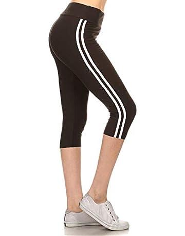 ec94d2d114a42b Leggings Depot High Waist Double Lined Solid Yoga Capri Leggings