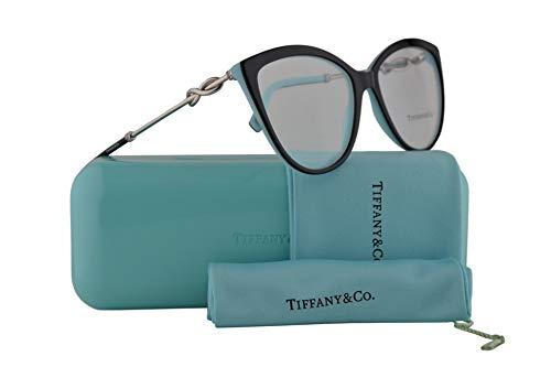 (Tiffany & Co. TF2161B Eyeglasses 54-17-140 Black Blue w/Demo Clear Lens 8055 TF 2161B )