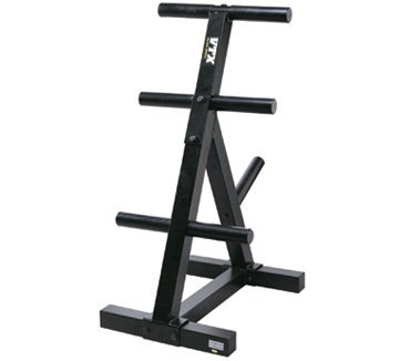 VTX by Troy Barbell T-OPT Heavy Duty Olympic Plate Rack, One Size by VTX by Troy Barbell