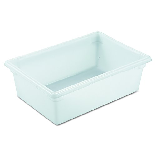Rubbermaid Commercial Products Food Storage Box/Tote for Restaurant/Kitchen/Cafeteria, 12.5 Gallon, White - Bus Grey Box