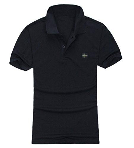 TM Men's Stylish Casual Plain T-shirt Short Sleeve Lapel Polo Shirt L 4