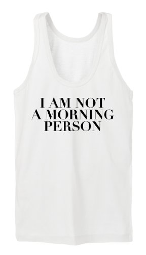 I Am Not A Morning Person Tanktop Girls Bianco