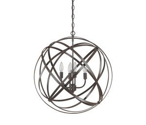 Cheap Capital Lighting 4234RS 4 Light Pendant in Russet Finish from the Axis Collection.
