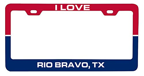R and R Imports Rio Bravo Texas Car Metal License Plate Frame