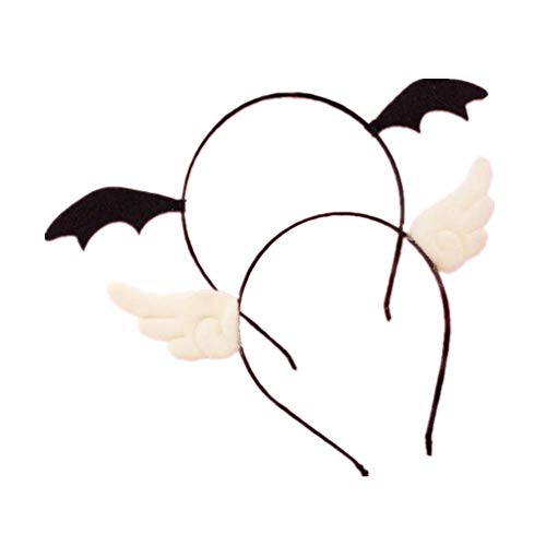 mywaxberry 2 PCS Cartoon Devil and Angel Hair Clips Headband Hair Accessories Cosplay Costume -
