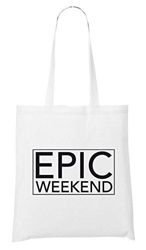 Epic Weekend Bag White