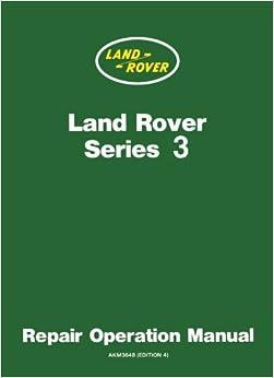 Book Land Rover Series 3 Repair Operation Manual: Owners Manual