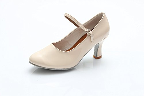 Dance Shoes National Black Standard With Latin Satin white 5cm heeled Shangyi Practice The High Creamy Women's Shoes Height g4HwOx