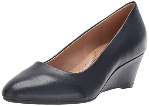 Pump Navy Leather - Aerosoles Women's INNER CIRCLE Pump, navy leather, 12 M US