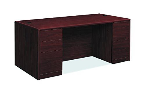 HON 10799NN 10700 Double Pedestal Desk with Full Pedestals, 72w x 36d x 29 1/2h, Mahogany