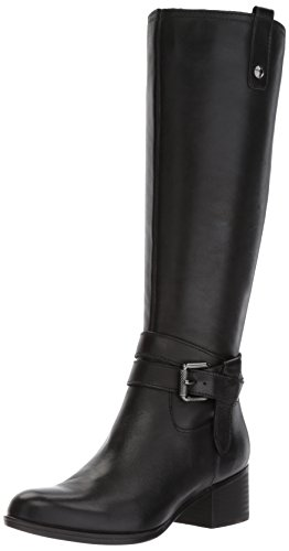 Naturalizer Women's Dev Riding Boot, Black, 12 W US by Naturalizer