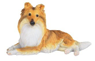 Gifts of Nature Shetland Sheepdog Sheltie Puppy Dog Figurine Lying Down 9.5