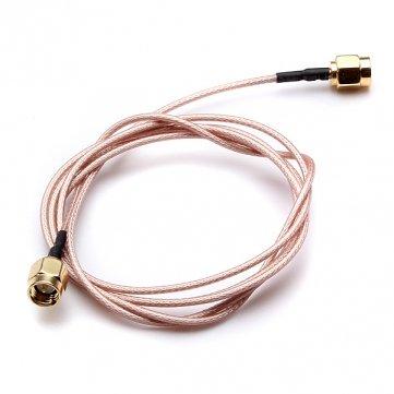 100cm argenture ligne reliant sma mâle à câble coaxial en queue de cochon mâle