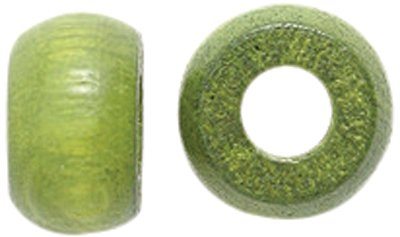 Shipwreck Beads Preciosa Czech Traditional Opaque Wood Crow Beads, 6 by 10mm, Olive Green, 200-Pack ()