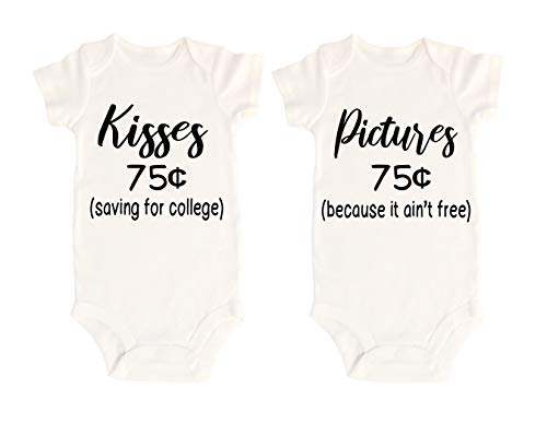 Lil' Cubster Baby Boy Baby Girl Toddler Twin Onesie Bodysuit Outfit Funny Humorous Apparel Newborn Gift 0-12 Months (9 Months, Kisses)