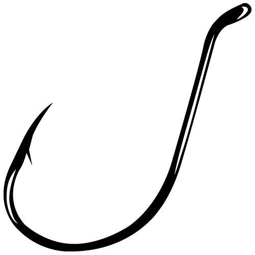 Gamakatsu Black Octopus Hook, 100 Pack, Size: 4/0 (4 Octopus Hook)