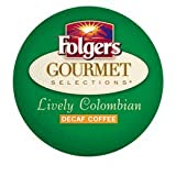 FOLGERS GOURMET SELECTIONS LIVELY COLOMBIAN DECAF K CUP COFFEE 96 COUNT by Folgers