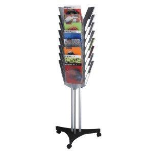 Paperflow Prospektständer mit 24 Fächern A4 drehbar